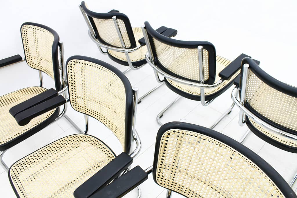 Rare Set of eight Mart Stam Lobby Chairs, S 67 F, Thonet (ch)