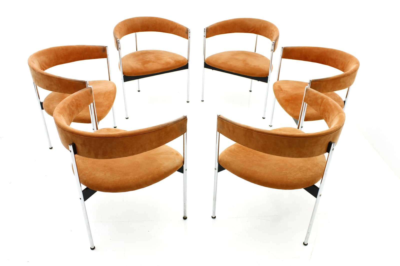 6x Dining Chairs by Dieter Wäckerlin for Idealheim, Switzerland 1960s