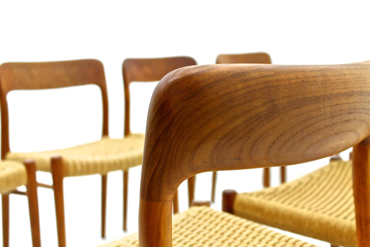 Set of Eight Teak Dining Chairs by Niels O. Møller (ch)