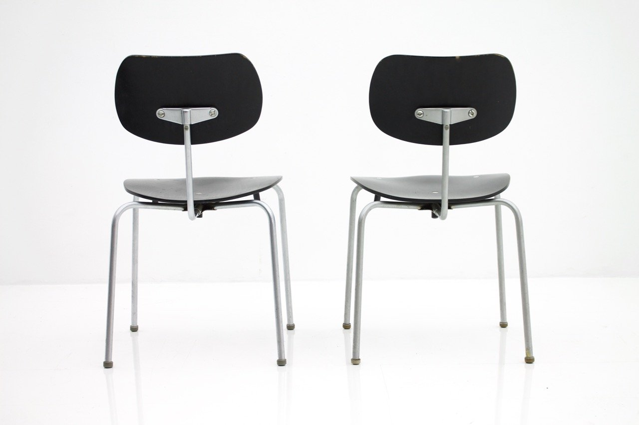 Pair of Egon Eiermann Chairs SE 68 Wilde & Spieth (ch)