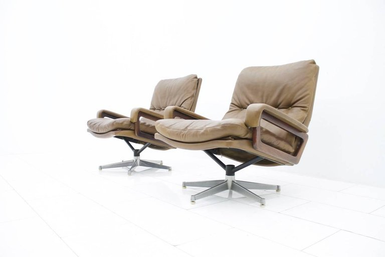 Andre Vandenbeuck Lounge Chairs King for Strässle, 1965(l)(ch)