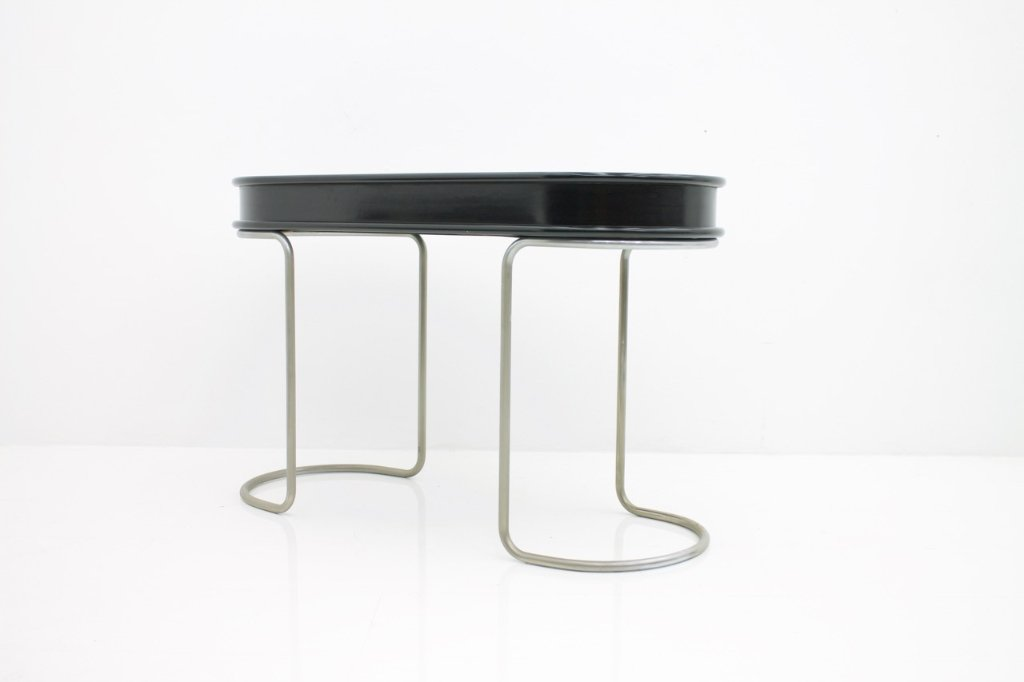 Black Ladies Desk Vanity Console Table, Italy, 1960s