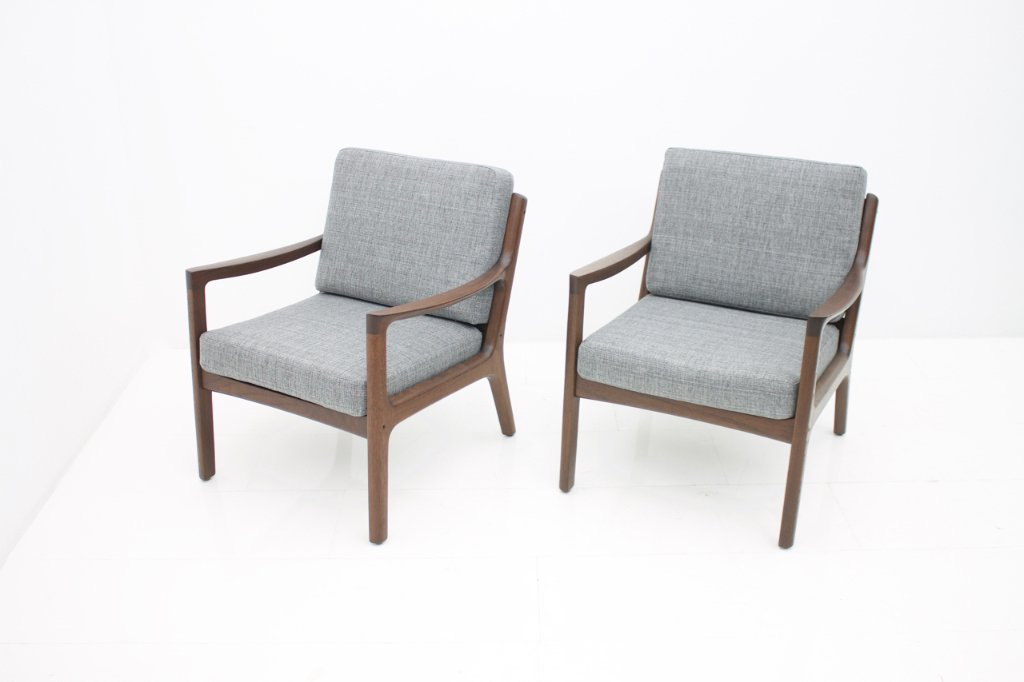 Pair of Easy Chairs By Ole Wanscher, Denmark 1951