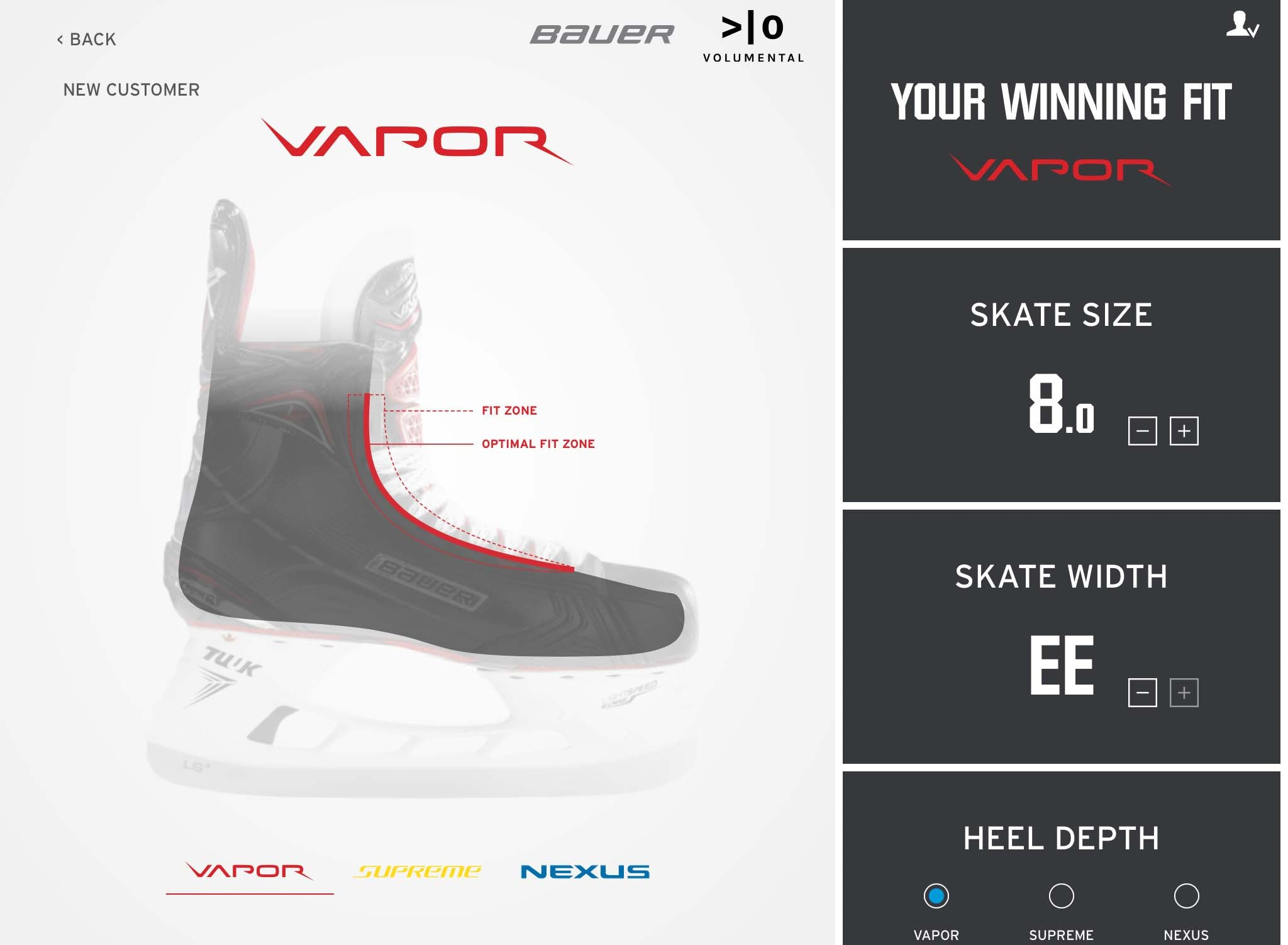Bauer Skate Size To Shoe Size.Bauer 3d Skate Lab Discount Hockey