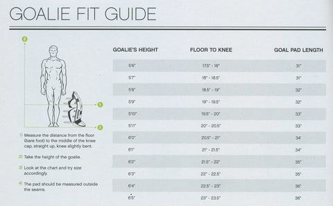 Goalie Leg Pad Measurement Guide- Discount Hockey