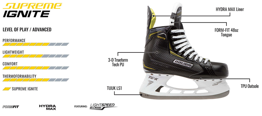Bauer Supreme Ignite 2018 Ice Hockey Skate