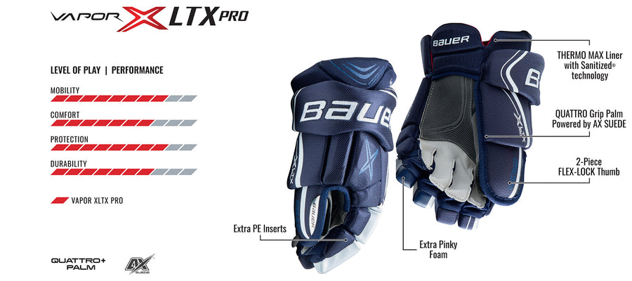 Bauer Vapor XLTX Pro Lite 2018 Ice Hockey Gloves
