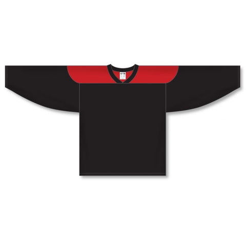 Athletic Knit Custom Black/Red 6100 Jersey