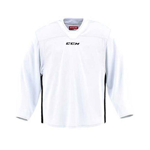 CCM Quicklite 60000 White/Black Custom Practice Hockey Jersey