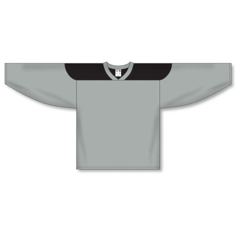 Athletic Knit Custom Grey/Black 6100 Jersey