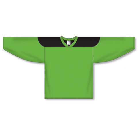 Athletic Knit Custom Lime Green/Black 6100 Jersey