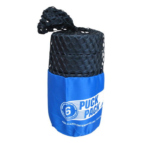 A&R Mesh Bag with Hockey Pucks - 6-Pack