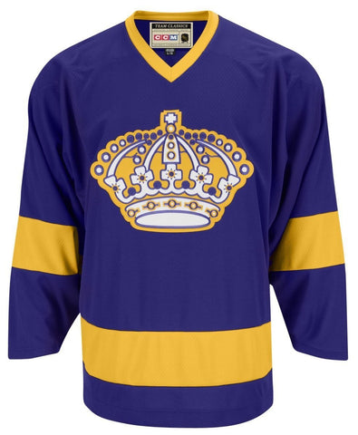 CCM Los Angeles Kings Premier Crested Vintage Purple Jersey - Discount Hockey