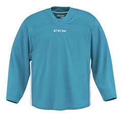CCM Quicklite 60000 Turquoise Blue/White Custom Practice Hockey Jersey