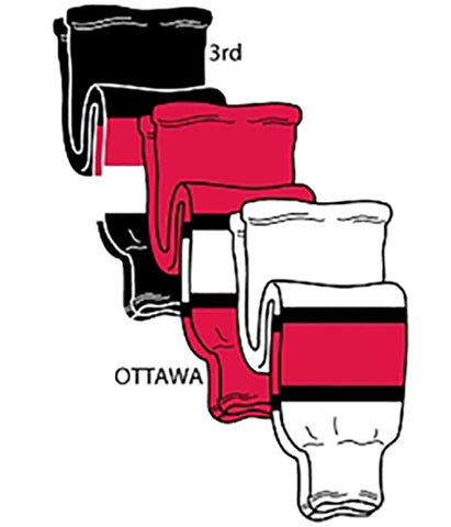 Pearsox NHL Pro Weight Hockey Socks - Ottawa