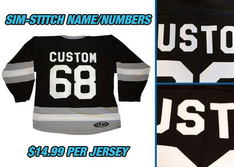 Pearsox Custom House League Hockey Jersey - Black