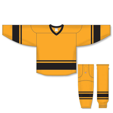Athletic Knit Custom Gold/Black 6400 Jersey - Discount Hockey
