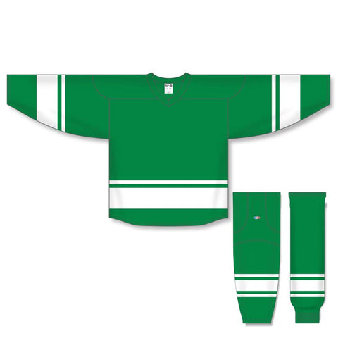 Athletic Knit Custom Kelly Green/White 6400 Jersey - Discount Hockey