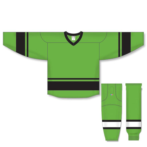 Athletic Knit Custom Lime Green/Black 6400 Jersey - Discount Hockey