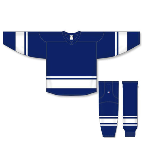 Athletic Knit Custom Navy/White 6400 Jersey - Discount Hockey