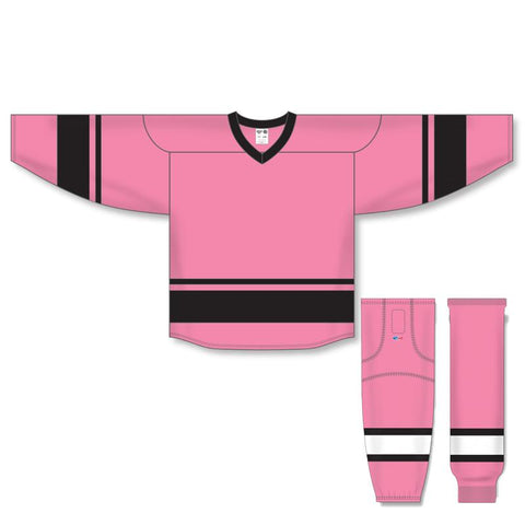 Athletic Knit Custom Pink/Black 6400 Jersey - Discount Hockey
