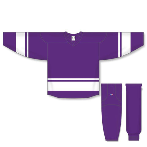 Athletic Knit Custom Purple/White 6400 Jersey - Discount Hockey