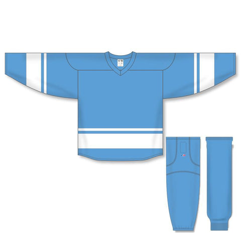 Athletic Knit Custom Sky Blue/White 6400 Jersey - Discount Hockey
