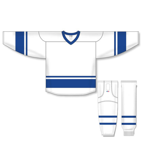 Athletic Knit Custom White/Royal 6400 Jersey - Discount Hockey