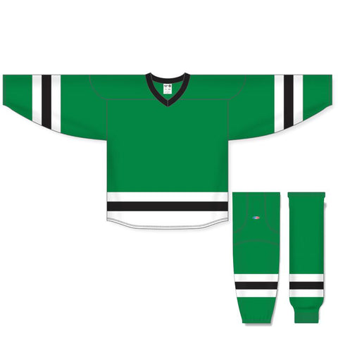 Athletic Knit Custom Kelly Green/White/Black 6500 Jersey - Discount Hockey