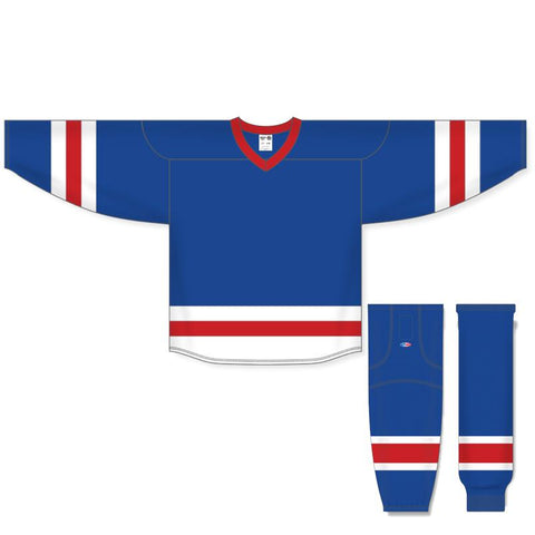 Athletic Knit Custom Royal/Red/White 6500 Jersey - Discount Hockey
