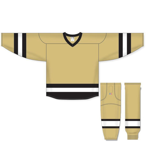 Athletic Knit Custom Vegas/Black/White 6500 Jersey - Discount Hockey