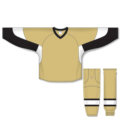 Athletic Knit Custom Vegas/Black/White 6600 Jersey - Discount Hockey