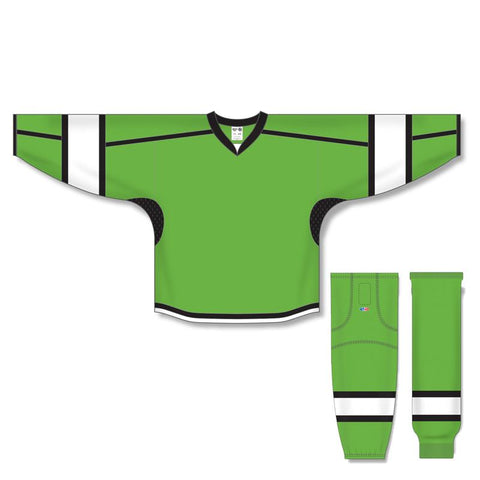 Athletic Knit Custom Lime/Black/White 7000 Jersey - Discount Hockey