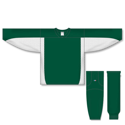Athletic Knit Custom Dark Green/White 7100 Jersey - Discount Hockey