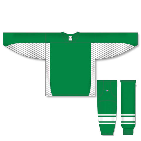 Athletic Knit Custom Kelly Green/White 7100 Jersey - Discount Hockey