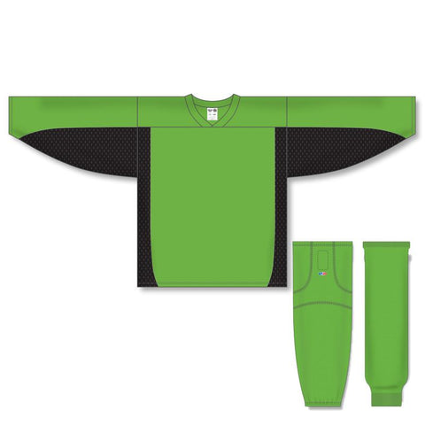 Athletic Knit Custom Lime Green/Black 7100 Jersey - Discount Hockey