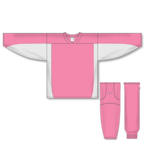 Athletic Knit Custom Pink/White 7100 Jersey - Discount Hockey