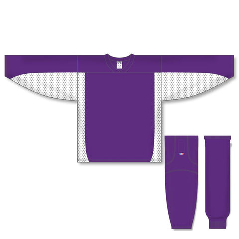 Athletic Knit Custom Purple/White 7100 Jersey - Discount Hockey