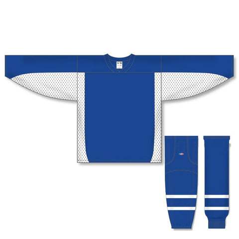 Athletic Knit Custom Royal/White 7100 Jersey - Discount Hockey