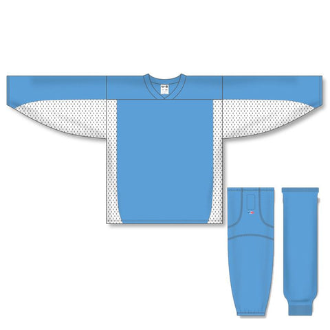 Athletic Knit Custom Sky Blue/White 7100 Jersey - Discount Hockey