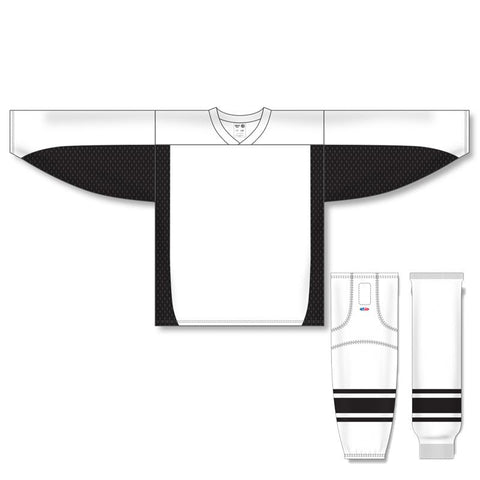 Athletic Knit Custom White/Black 7100 Jersey - Discount Hockey
