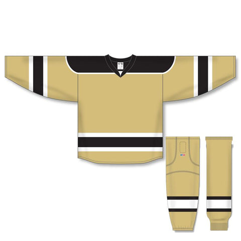 Athletic Knit Custom Vegas/Black/White 7500 Jersey - Discount Hockey