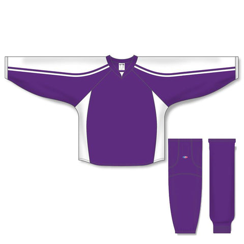 Athletic Knit Custom Purple/White 7600 Jersey - Discount Hockey
