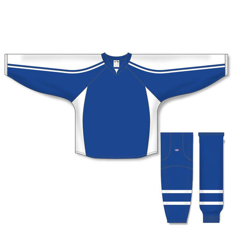 Athletic Knit Custom Royal/White 7600 Jersey - Discount Hockey