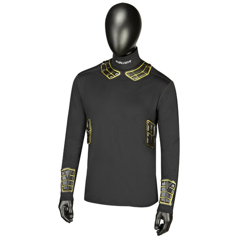 Bauer Elite Padded NeckProtect Long Sleeve Top - Discount Hockey