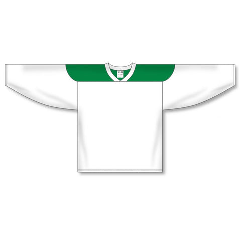Athletic Knit Custom White/Kelly Green 6100 Jersey