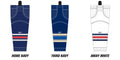 Reebok Edge SX100 Columbus Blue Jackets Mesh Socks