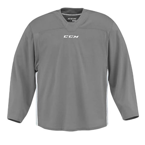 CCM Quicklite 60000 Mystic Grey/White Custom Practice Hockey Jersey