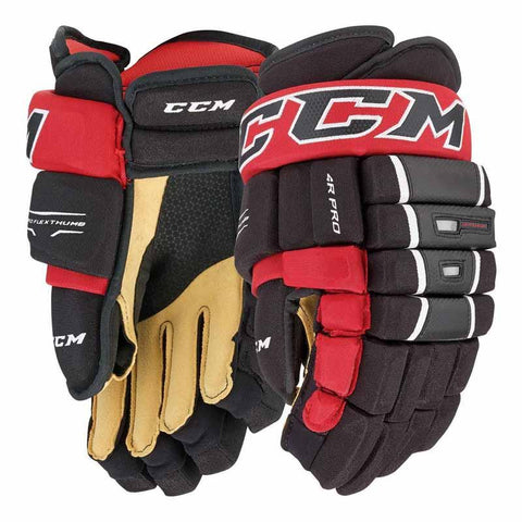 CCM 4-Roll Pro Hockey Gloves - Junior