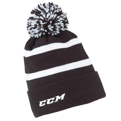 CCM Fleece Cuffed Pom Knit Beanie - Discount Hockey